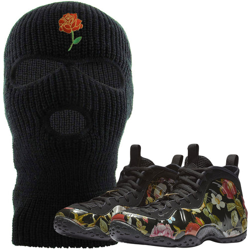 Wear this sneaker matching ski mask to match your Air Foamposite One Floral sneakers. Match your floral foams today!