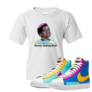 Blazer Mid Big Kids T Shirt | White, Watchu Talking Bout