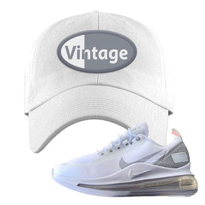 Air Max 720 Utility White Dad Hat | White, Vintage Oval
