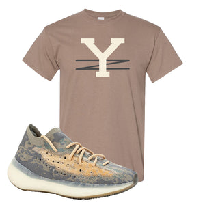 Yeezy Boost 380 Mist Sneaker Brown Savanna T Shirt | Tees to match Adidas Yeezy Boost 380 Mist Shoes | YZ