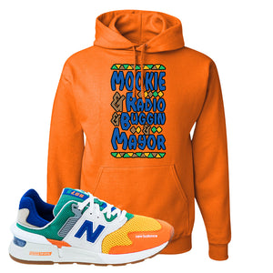 997S Multicolor Sneaker Safety Orange Pullover Hoodie | Hoodie to match New Balance 997S Multicolor Shoes | Mookie and Gang