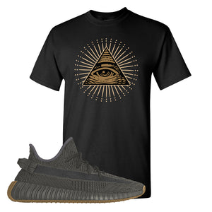 Yeezy Boost 350 V2 Cinder T Shirt | Black, All Seeing Eye