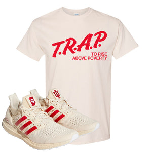 Adidas Ultra Boost 1.0 Indiana T-Shirt | Trap To Rise Above Poverty, Natural