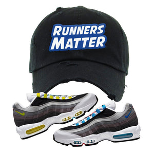 Air Max 95 QS Greedy Distressed Dad Hat | Black, Runners Matter