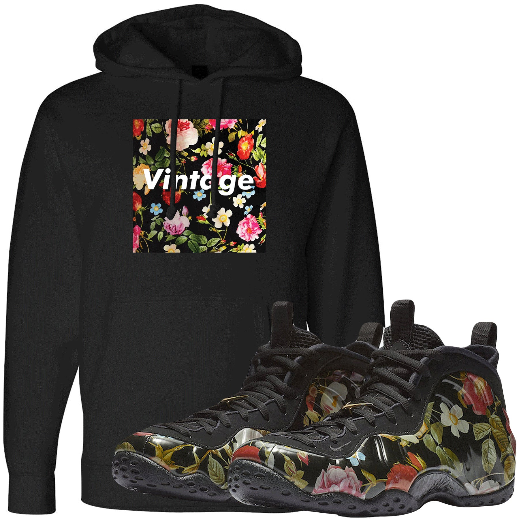 half off cfa5c c8f17 Wear this sneaker matching hoodie to match your Air Foamposite One Floral  sneakers. Match your