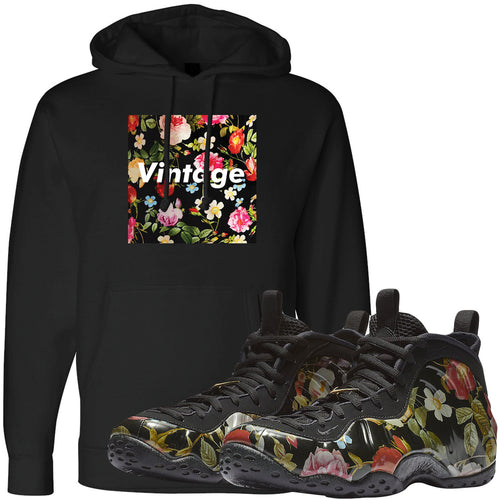 Wear this sneaker matching hoodie to match your Air Foamposite One Floral sneakers. Match your floral foams today!