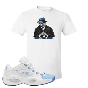 Question Low Carolina Blue T-Shirt | Capone Illustration, White