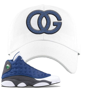 Jordan 13 Flint 2020 Sneaker White Dad Hat | Hat to match Nike Air Jordan 13 Flint 2020 Shoes | OG