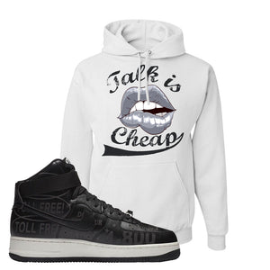 Air Force 1 High Hotline Hoodie | Talk Is Cheap, White