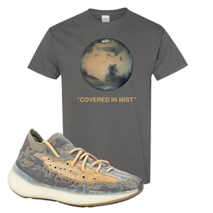 Yeezy Boost 380 Mist Sneaker Charcoal Gray T Shirt | Tees to match Adidas Yeezy Boost 380 Mist Shoes | Covered In Mist
