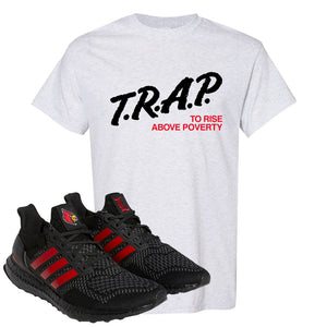 Ultra Boost 1.0 Louisville T Shirt | Trap To Rise Above Poverty, Ash