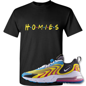 Homies Black T-Shirt to match Air Max 270 React ENG Laser Blue Sneakers