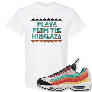 Air Max 95 Black History Month Sneaker White T Shirt | Tees to match Nike Air Max 95 Black History Month Shoes | Playa From The Himalaya