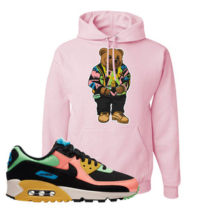Furry Air Max 90 Bright Neon Pullover Hoodie | Sweater Bear, Classic Pink