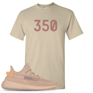 "Yeezy Boost 350 Clay V2 Sneaker Hook Up ""350"" Sand T-Shirt"
