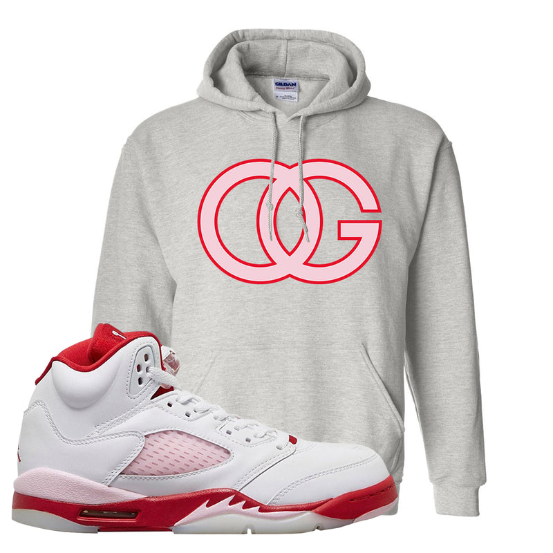 Air Jordan 5 GS Pink Foam and Gym Red Hoodie | OG, Ash