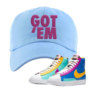 Blazer Mid Big Kids Dad Hat | Light Blue, Got Em