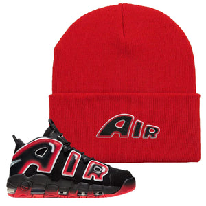 Air More Uptempo Laser Crimson Beanie | Red, Air From The Sneaker