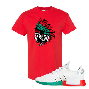 NMD R1 V2 Ciudad De Mexico T Shirt | Red, Indian Chief