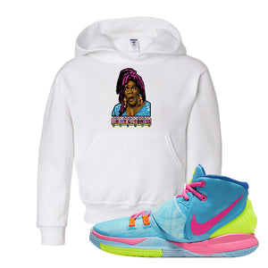 Kyrie 6 Pool Kids Pullover Hoodie | Oh My Goodness, White