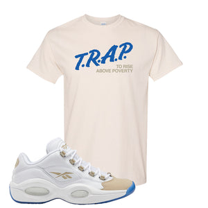 Reebok Question Low Oatmeal T Shirt | Natural, Trap To Rise Above Poverty
