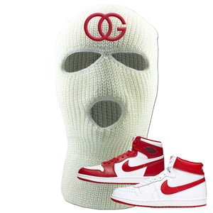 Jordan 1 New Beginnings Pack Sneaker White Ski Mask | Winter Mask to match Nike Air Jordan 1 New Beginnings Pack Shoes | OG