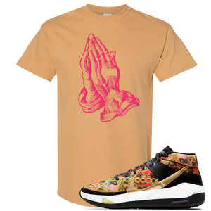 KD 13 Hype T Shirt | Old Gold, Praying Hands