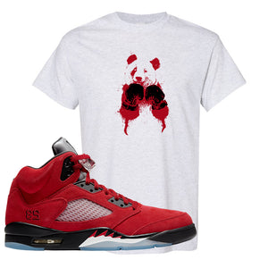 Air Jordan 5 Raging Bull T Shirt | Boxing Panda, Ash