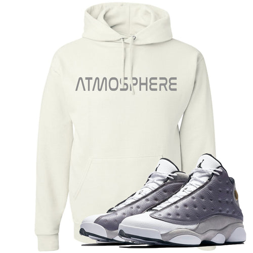 "Jordan 13 Atmosphere Grey ""Atmosphere"" White Hoodie"