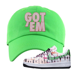 Air Force 1 Low Multi-Colored Tie-Dye Dad Hat | Neon Green, Got Em