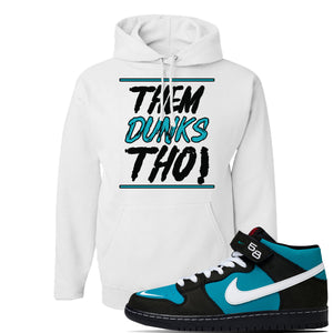 SB Dunk Mid 'Griffey' Hoodie | White, Them Dunks Tho
