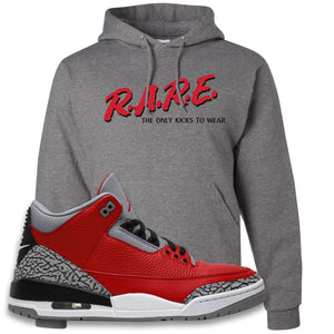Jordan 3 Red Cement Hoodie | Oxford, Rare