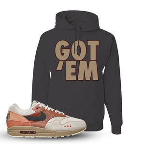 Air Max 1 Amsterdam City Pack Sneaker Charcoal Grey Pullover Hoodie | Hoodie to match Nike Air Max 1 Amsterdam City Pack Shoes | Got Em