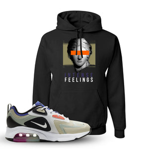 Air Max 200 WMNS Fossil Sneaker Black Pullover Hoodie | Hoodie to match Nike Air Max 200 WMNS Fossil Shoes | Intense Feelings