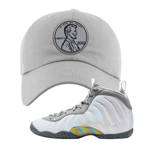 Lil Posite One Rainbow Pixel Dad Hat | Light Gray, Penny