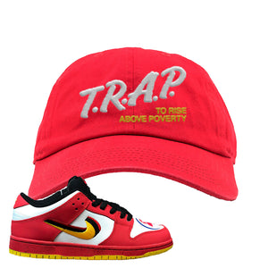 Nike Dunk Low Vietnam 25th Anniversary Dad Hat | Trap To Rise Above Poverty, Red
