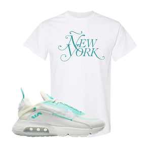 Air Max 2090 Pristine Green T Shirt | White, New York