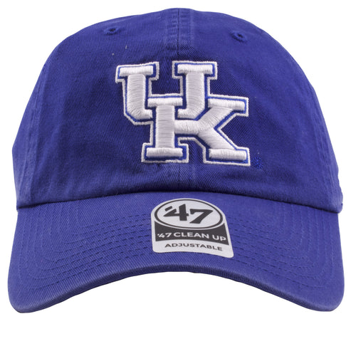 sale retailer 9ab31 e8f10 Embroidered on the front of the University of Kentucky wildcats royal blue  adjustable dad hat is