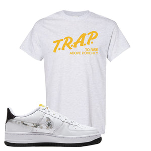 Air Force 1 T Shirt | Ash, Trap To Rise Above Poverty