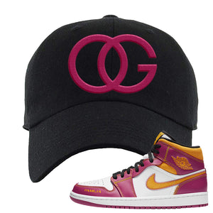 Air Jordan 1 Mid Familia Dad Hat | OG, Black