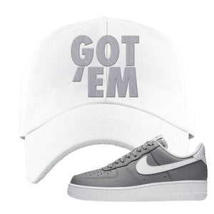Air Force 1 Low Wolf Grey White Dad Hat | White, Got Em
