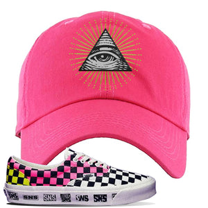 Vans Era Venice Beach Pack Dad Hat | Pink, All Seeing Eye