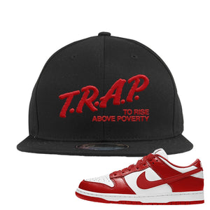 SB Dunk Low St. Johns Snapback Hat | Trap To Rise Above Poverty, Black