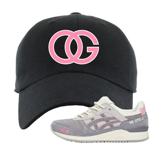 END x Asics Gel-Lyte III Grey And Pink Dad Hat | OG, Black
