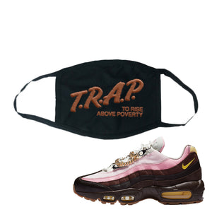 Air Max 95 Cuban Links Face Mask | Black, Trap To Rise Above Poverty