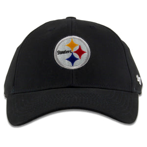 Pittsburgh Steelers Infant Sized Black Adjustable Dad Hat