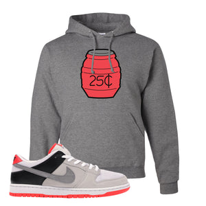 Nike SB Dunk Low Infrared Orange Label Quarter Water Oxford Pullover Hoodie To Match Sneakers