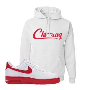 Air Force 1 Low Red Bottoms Hoodie | White, Chiraq
