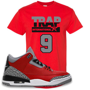 Jordan 3 Red Cement T-Shirt | True Red, Trap International