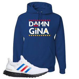 Ultra Boost White Red Blue Hoodie | Royal Blue, Damn Gina